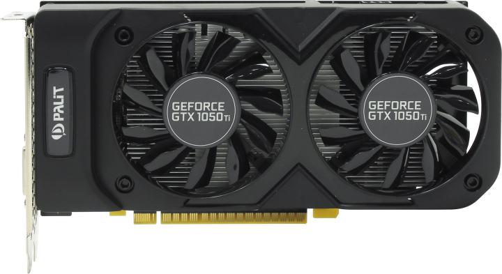 Palit GTX1050Ti DUAL OC 4096M GDDR5 128bit, вид сверху