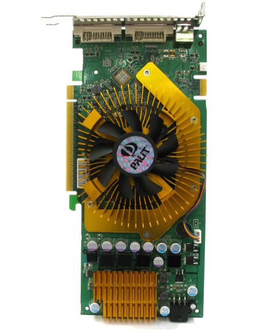 Palit GeForce<sup>®</sup>  9800GT Sonic, вид сверху