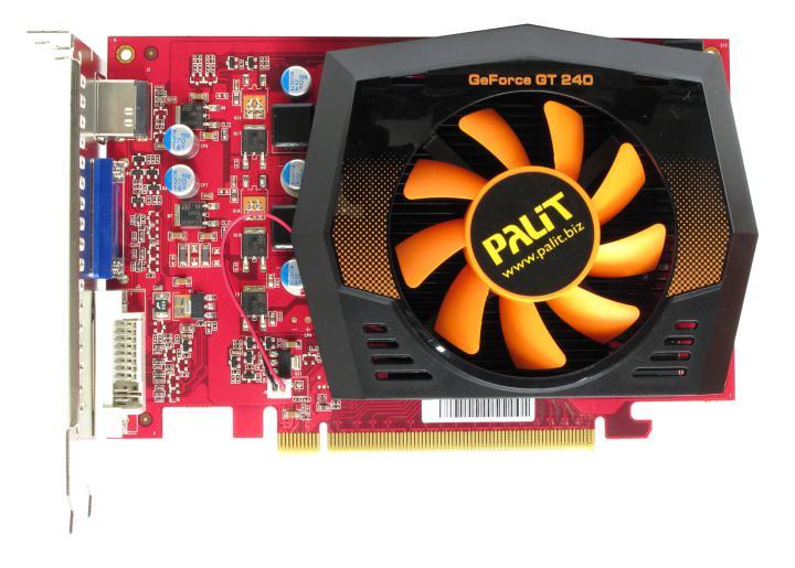 Palit GeForce<sup>®</sup>  GT 240 (512MB GDDR5), вид сверху