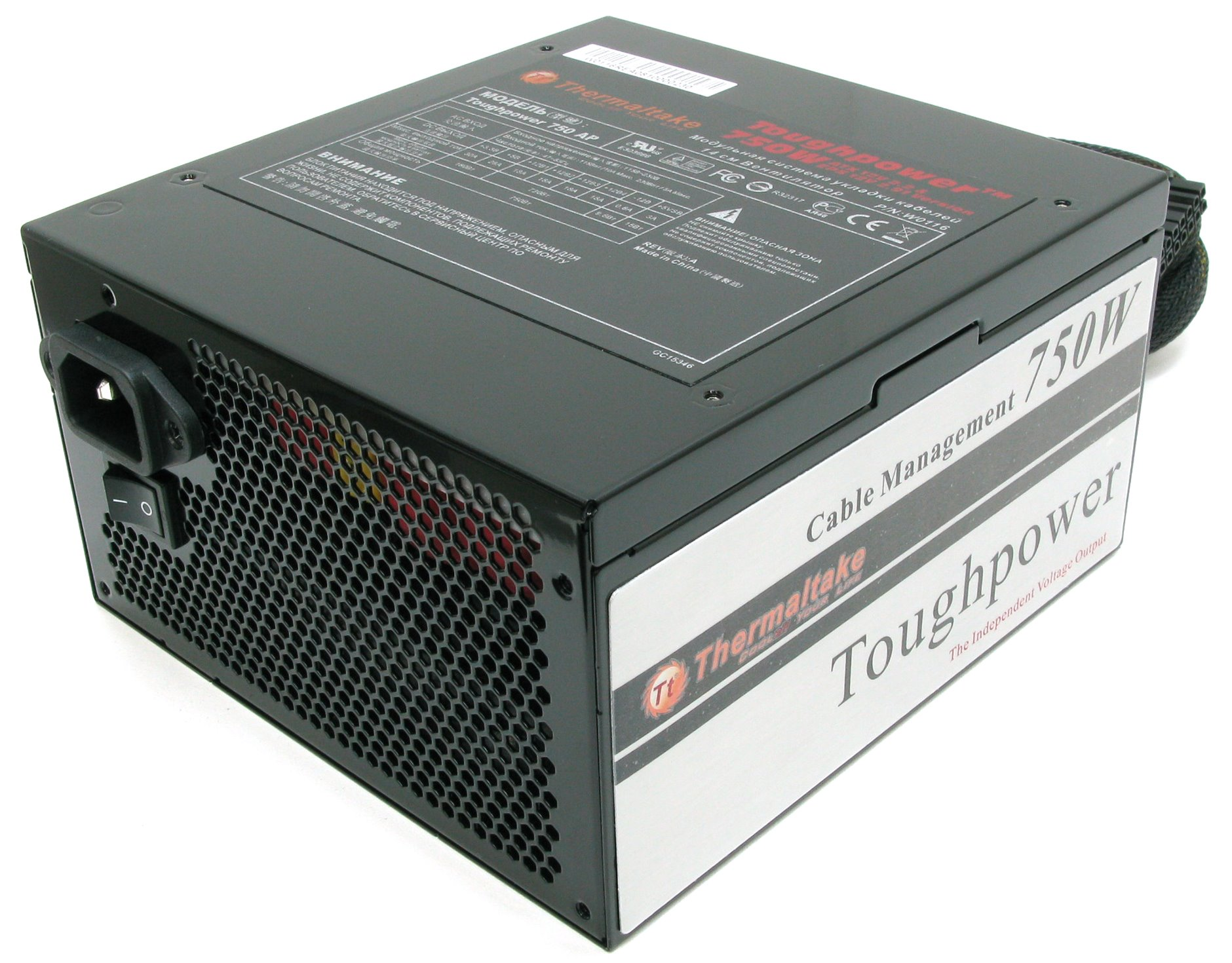Блок питания Thermaltake W0116RE ToughPower 750W (24+2x4+6пин) Cable Management