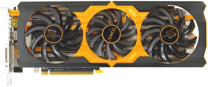 Sapphire TOXIC R9 270X 2GB GDDR5 WITH BOOST, вид сверху