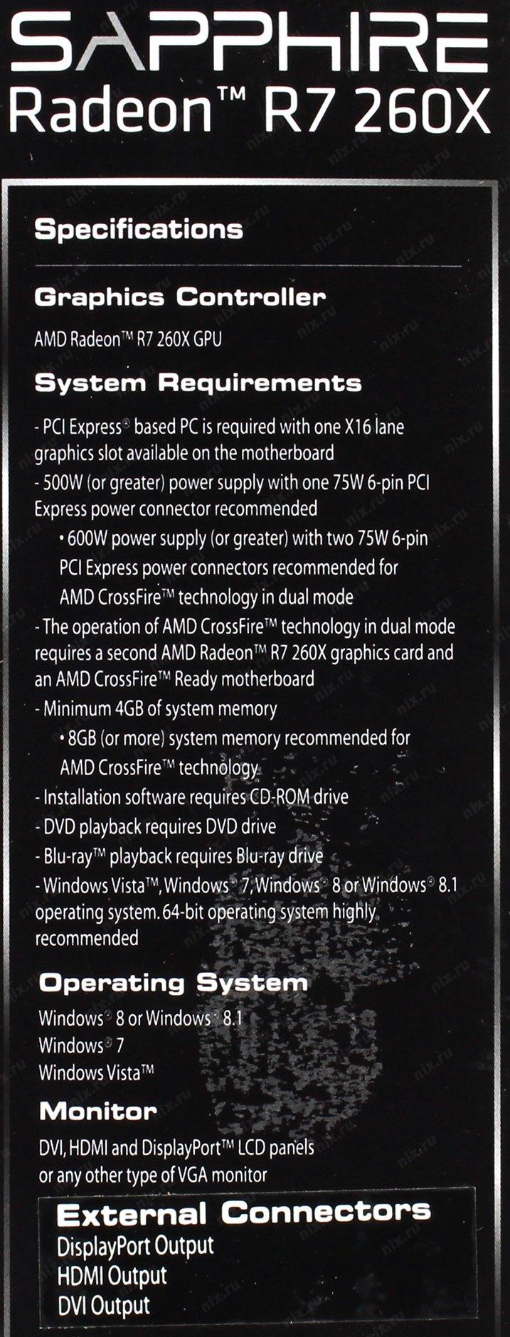 R7 260X 2GB GDDR5