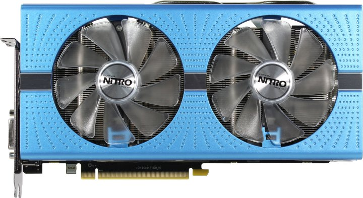 Sapphire RADEON RX 580 Nitro+ Ver.BP Special Edition, вид сверху