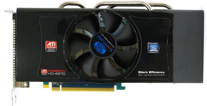 Sapphire HD 4870 1G GDDR5 PCI-E, вид сверху