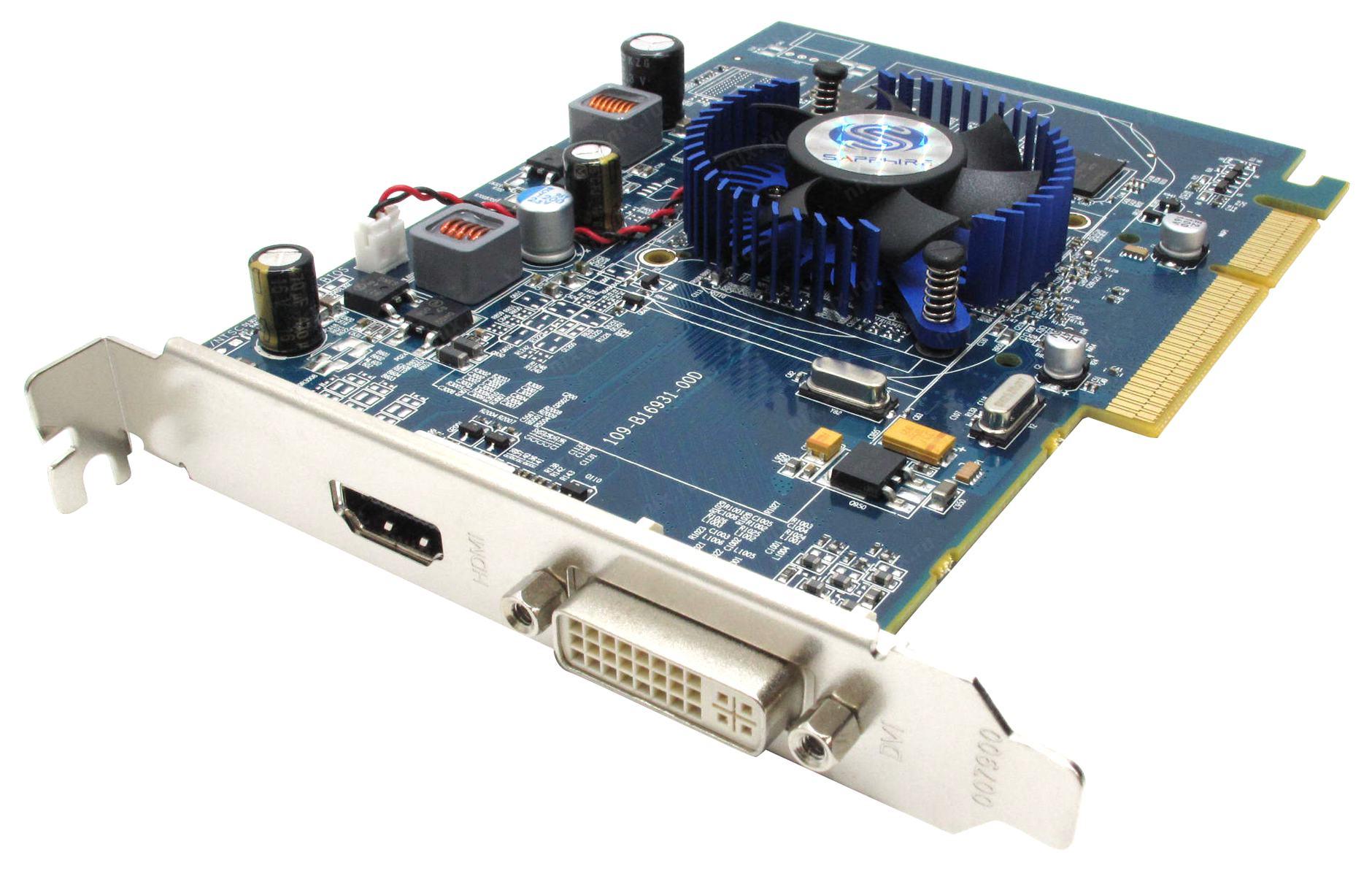 512Mb AGP DDR-2 Sapphire ATI RADEON HD3450 (OEM) DVI+HDMI