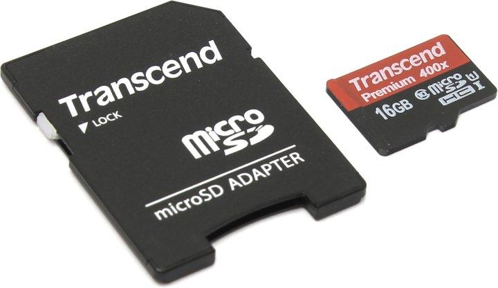Transcend Premium 400X TS16GUSDU1, вид основной