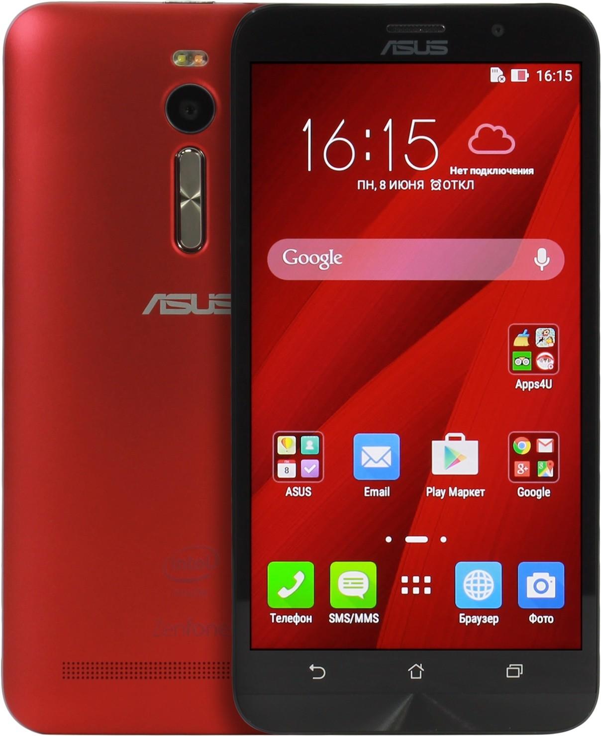 Asus Zenfone 2 Ze550ml Red 16 Smartphone