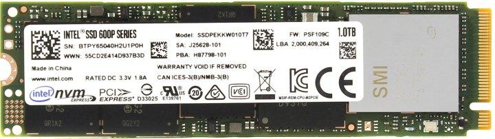 Intel 600p SSDPEKKW010T7X1, вид сверху