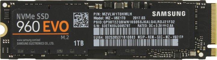Samsung 960 EVO MZ-V6E1T0BW, вид сверху
