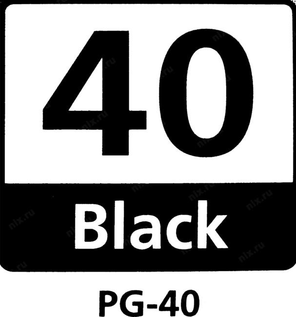 Картридж Canon PG-40 для PIXMA MP450/MP170/MP150/iP2200/iP1600. Чёрный. 330 страниц.