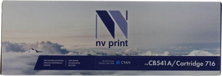 NV-Print CB541A/Cartridge716 Cyan, вид спереди
