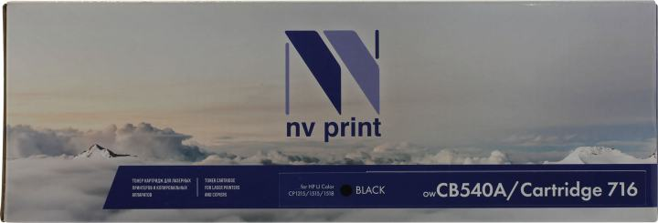NV-Print CB540A/Cartridge716 Black, вид спереди