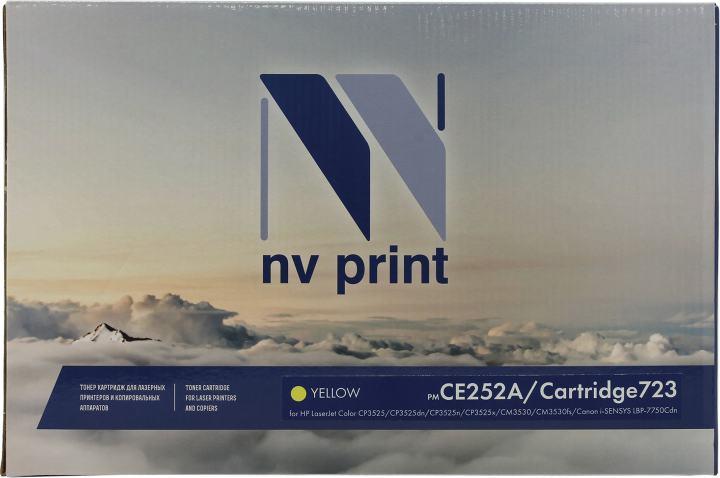 NV-Print CE252A/Cartridge 723 Yellow, вид спереди