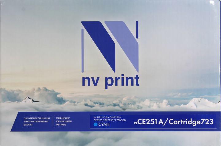 NV-Print CE251A/Cartridge 723 Cyan, вид спереди
