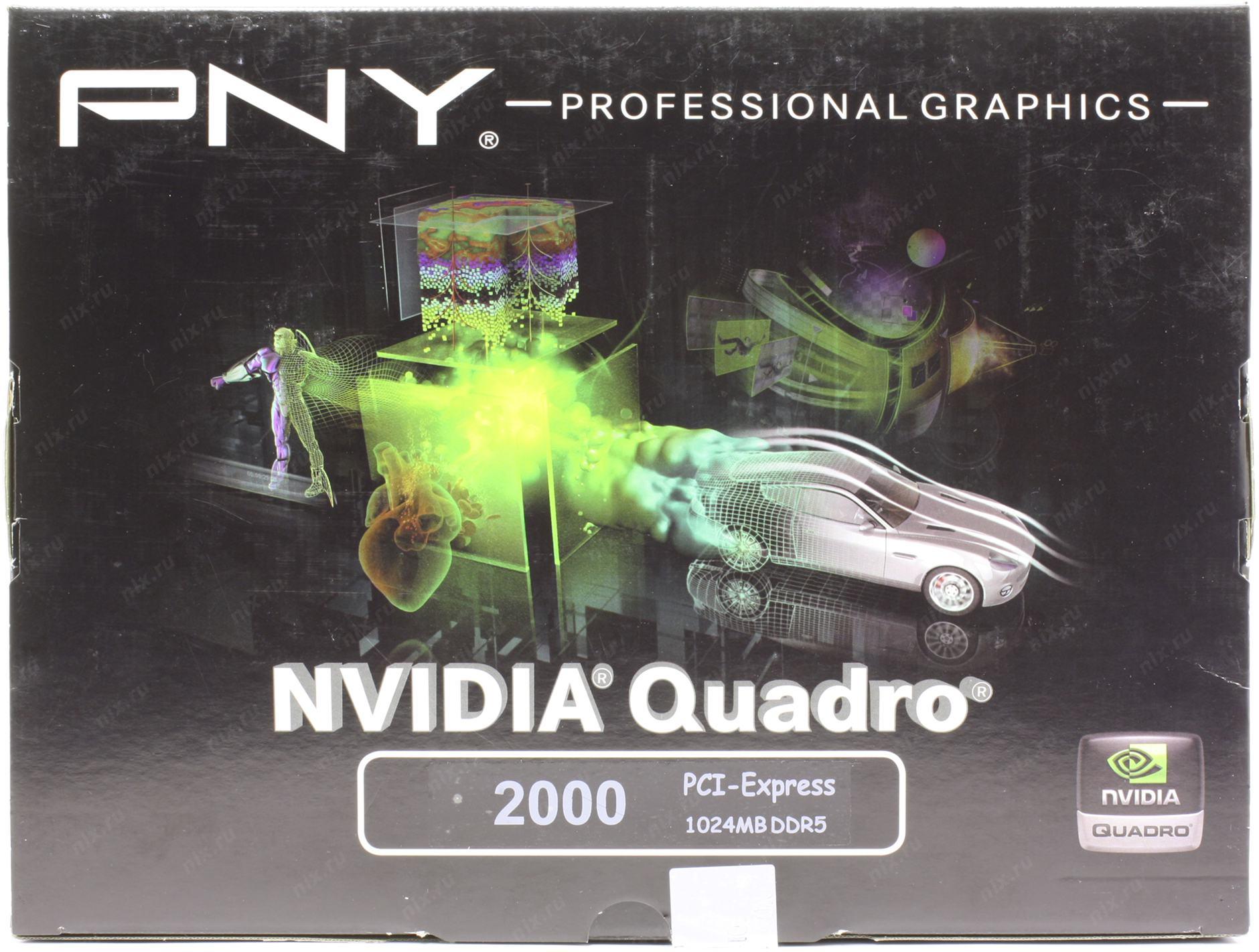 Профессиональный видеоускоритель PNY NVIDIA Quadro 2000