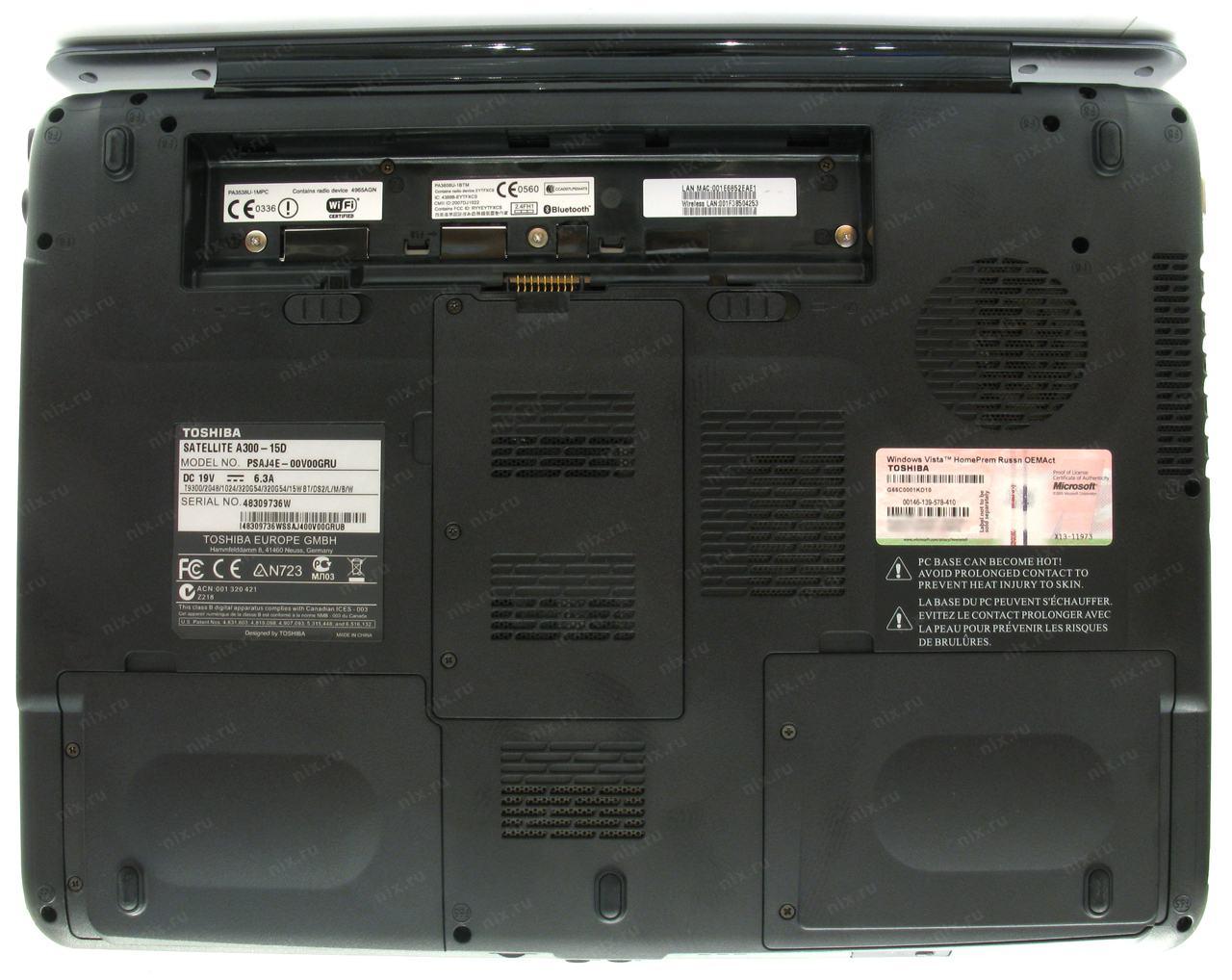 Toshiba satellite a300 драйвер видеокарты