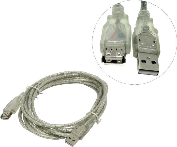 Кабель удлинительный USB 2.0 AM-AF 1.5м Hama серый H-53725