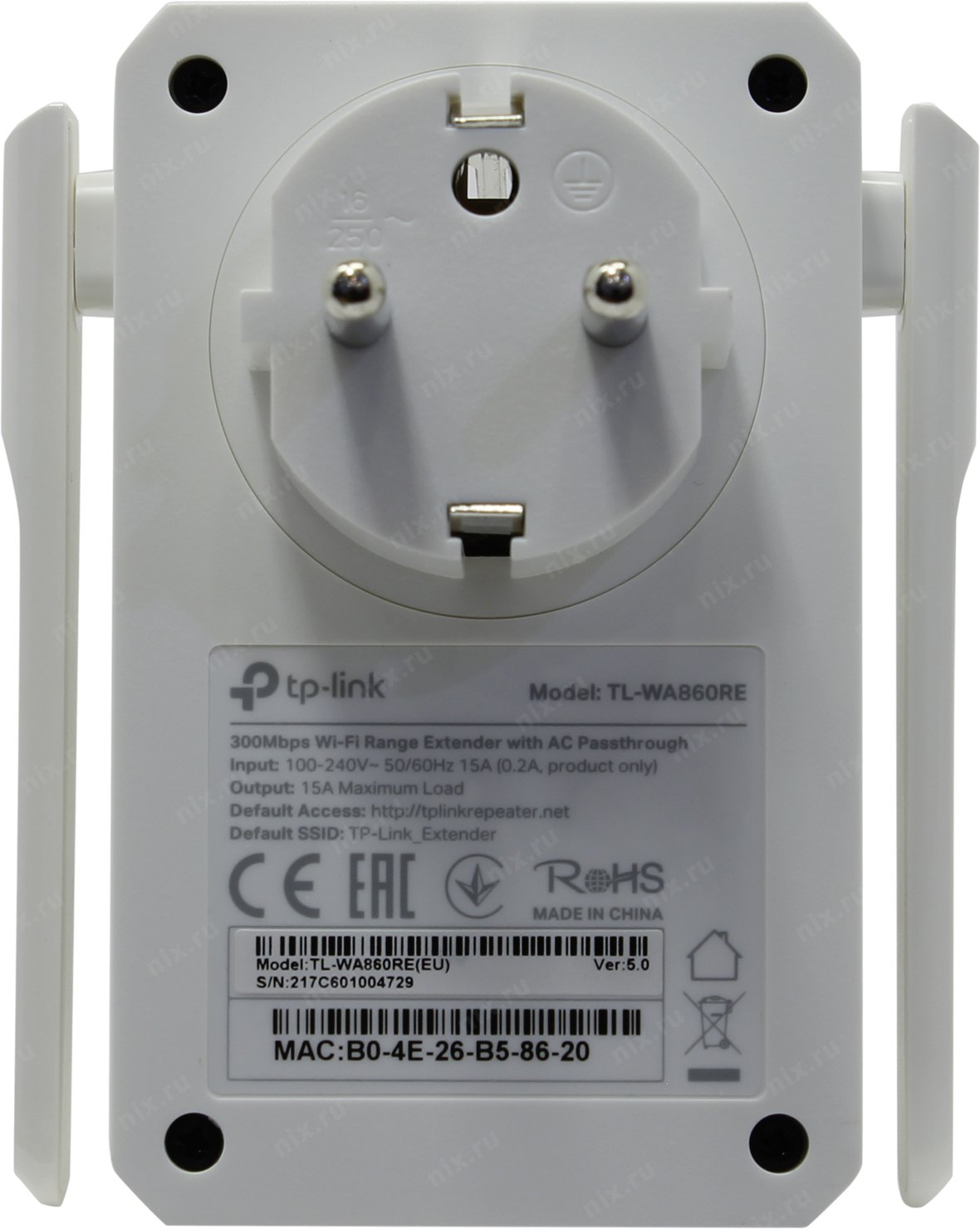 Tp Link Tl Wa860re 300mbps Wifi Range Extender With Ac Passthrough