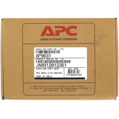 Network Management Card 2 with Environmental Monitoring AP9631