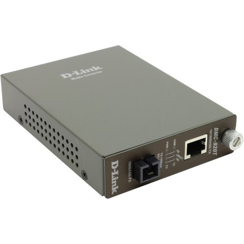 Конвертер D-Link DMC-920T 10/100Base-TX to 100Base-FX конвертер (1UTP, 1SC)