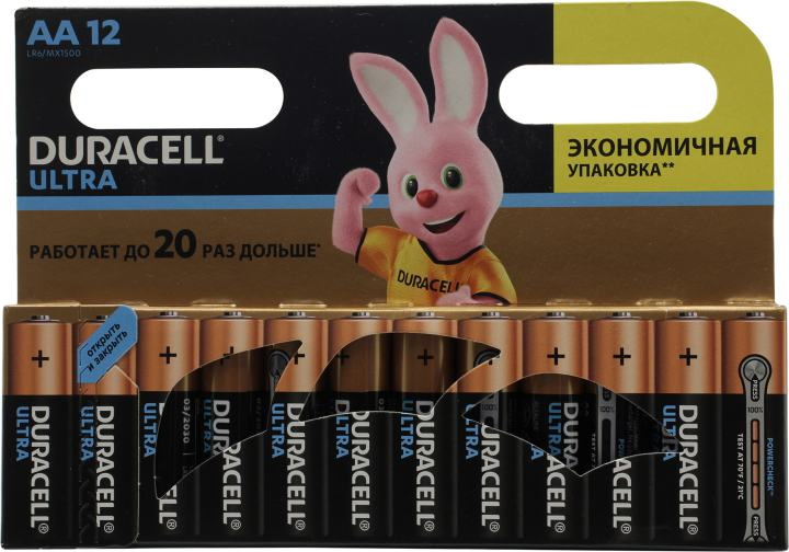 Батарейки AA Duracell ULTRA POWER MX1500 12 шт.