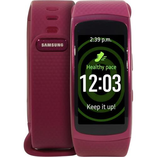 "Samsung GEAR Fit2 SM-R3600ZIASER Pink (1GHz, 512MbRAM, 1.5"" 432x216 AMOLED, BT+WiFi+GPS, 4Gb, Tizen)"